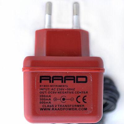 raad euro regulated power supply dc 9v effect pedal negative tip stromversorgung ebay. Black Bedroom Furniture Sets. Home Design Ideas