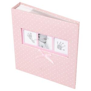 Baby Girl Pink White Polka Dot Photo Album 200 Photographs 6x4