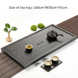 black stone tea tray tea plate drainage tea table small serving tray