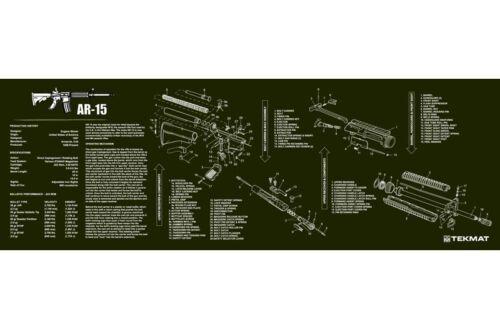TECHNICAL ILLUSTRATION GUN CLEANING BENCH MAT TEKMAT OD ARMA LITE RIFLE DIAGRAM