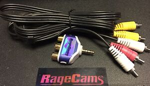 RCA-AUDIO-VIDEO-AV-PLUG-4-039-CABLE-FOR-MYVU-701-CRYSTAL-SOLO-PLUS-301-GLASSES-LCD
