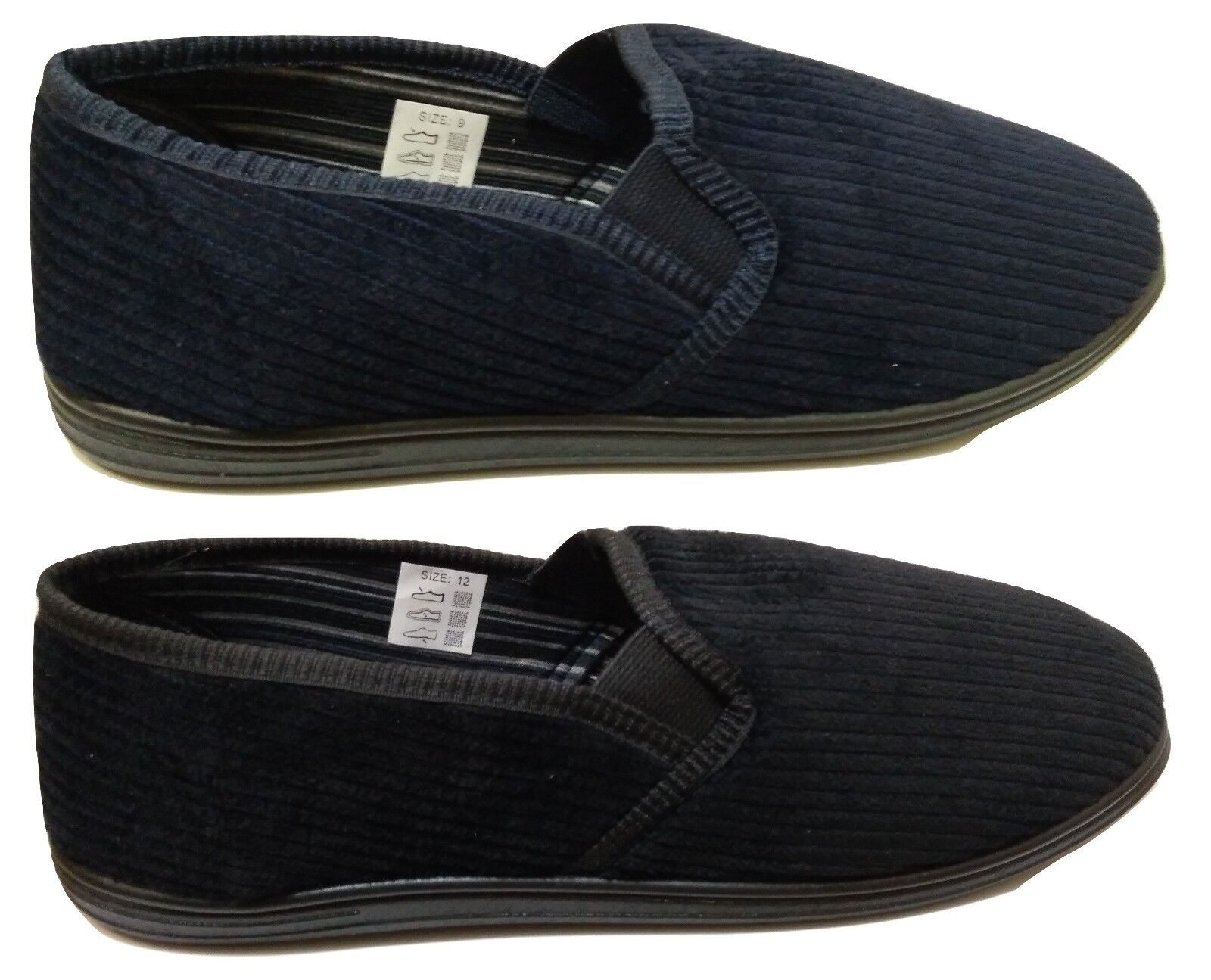 Hombre Clive Velour Elasticated Gusset Corduroy Slippers Velour Clive Moccasin Warm House Zapatos 5aca4c