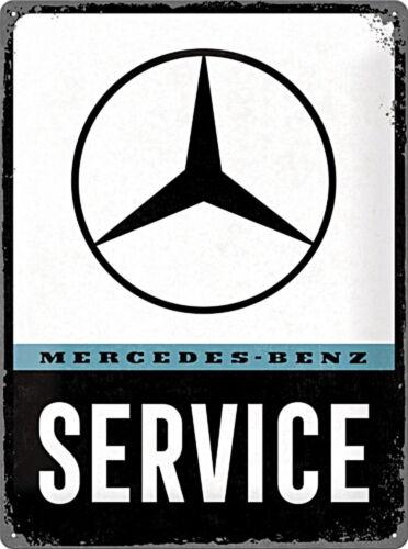 Service Blechschild Mercedes-Benz gewölbt /& geprägt 30 x 40 cm