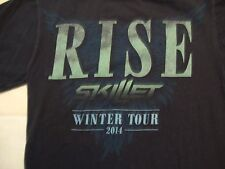 Skillet Christian Rock Band Rise Winter Concert Tour 2014 T Shirt Size S