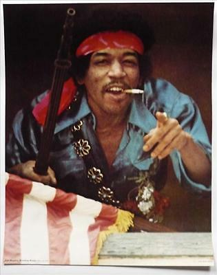 "JIMI HENDRIX Genuine poster Rainbow Bridge film 21X26"" Maui Hawaii USA 1971"