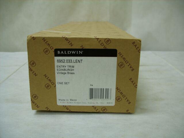 Baldwin 6952033LENT Vintage Brass Keyed Entry Edinburgh Left Hand Single Cylinder Mortise
