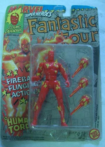 Marvel súper Heores Juguetebiz Human Torch Raro Moc