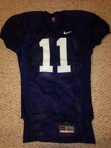 Nike Virginia Cavaliers #11 Navy Team Issue Worn Practice Football Jersey *L*