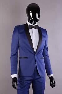 Smoking In Blau Gr 44 Bis 60 Brautigam Hochzeit Herren Anzug
