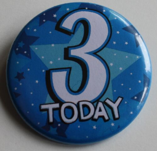 3rd Birthday Badge 50mm Pin Button Badge 3rd Party Gift Present D1
