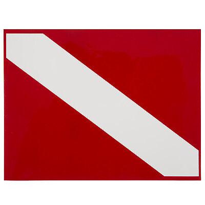 3.5 x 2.5 Inch Alpha Dive Flag Trident High Gloss Vinyl SCUBA Sticker