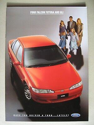 Kind-Hearted Prospekt Ford Australia Falcon Futura & Gli Ef Incl Car & Truck Manuals Tickford My 1995 Brochure Easy To Use