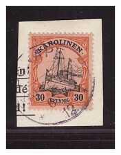Karolinen  ° Ponape  6.7.12 violett  Luxus Briefstück Minr. 12