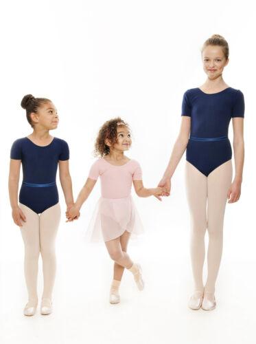 All Colours Ladies Cotton Short Sleeved Ballet Tap Dance Leotard KDC037 By Katz