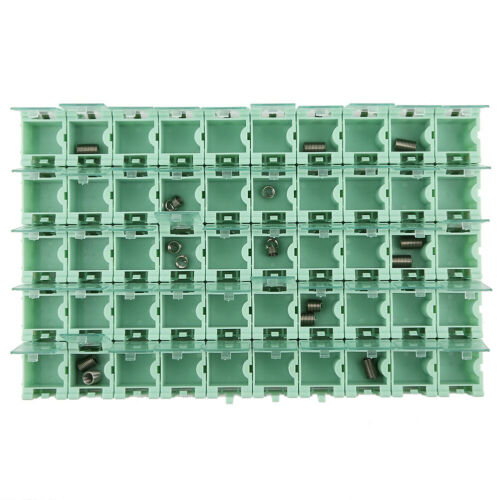 50Pcs SMT SMD Container Box Electronic Components Green Mini Storage Case