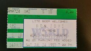 Bon-Jovi-Ticket-Stub-7-24-1993-World-Music-Chicago-WHILE-SUPPLIES-LAST