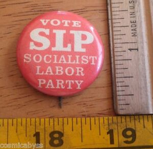 Image Is Loading 1960s 70s Political Movement Button Vote Socialis Labor