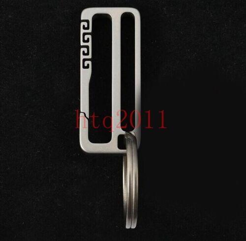 EDC Titanium Alloy Key Ring Car Keychain Outdoor Carabiner Hook Belt Keychains