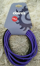 Claire's set of 10 purple and black bracelets NEW