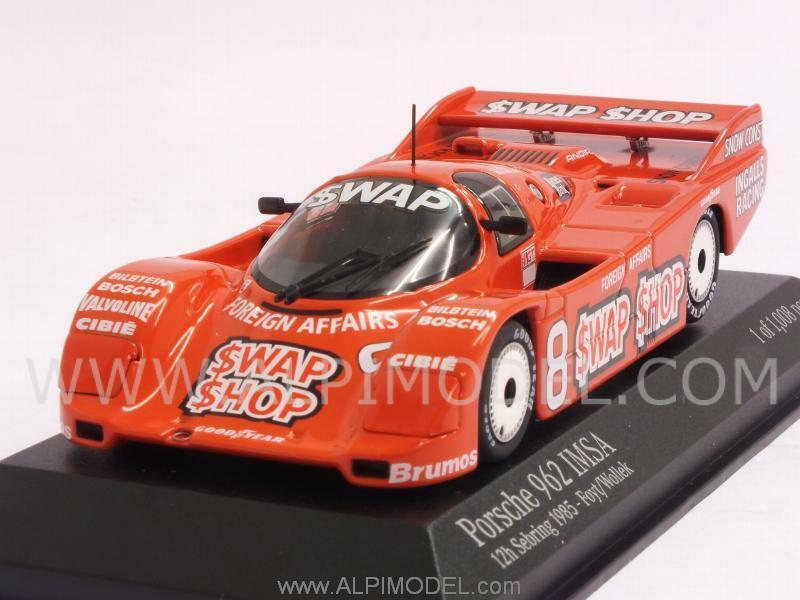 Porsche 962 IMSA Swap Shop Winner 12h Sebring 1985 1 43 MINICHAMPS 400856508