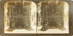 Gerusalemme Chiesa Del Santo Sepolcro, Foto Stereo Vintage Analogica PL62L2