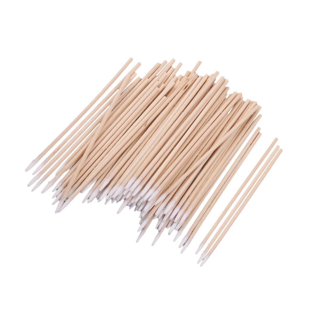 200pcs Wattestäbchen Applikator Tupfer Holz Robust Reinigung Make-up Werkzeug