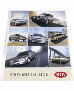 2003 kia 16 page original car sales brochure optima. Black Bedroom Furniture Sets. Home Design Ideas