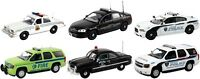 Set Of 6 Police Cars Release 4 1/43 By First Response Replicas Fr-43-r04