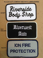 Custom Embroidered Patches Your Company Or Names Personalized Us Seller