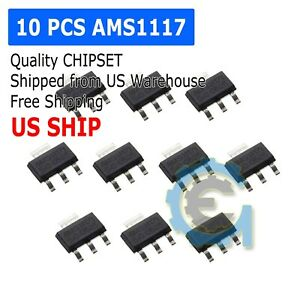 10pcs-AMS1117-3-3-LM1117-3-3-AMS1117-3-3V-1A-Voltage-Regulator-SOT-223-M153