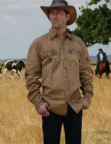 """Scippis chemise westernhemd country OUTDOOR LOISIRS western /""""Cowra/"""" 3 couleurs s-xxl"""