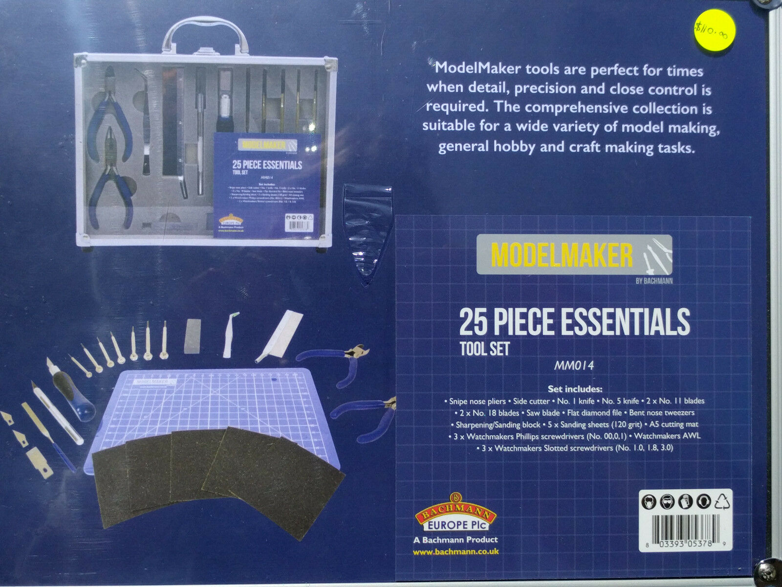 Bachmann Model Maker  MM014 25 Piece Essential Model Maker Tool Set BNIB