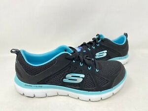 Extraordinario Perseguir Cayo  NEW! Skechers Women's Dual Lite Lace Up Sneakers Black/Blue #12761 155R tk  | eBay