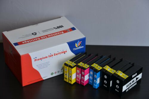 8PK New  For HP 932XL 933XL Ink Cartridge Set 6100 6700 7610 7110 6600 W//Chip