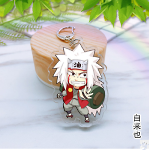 NEW Japan Anime Naruto hero JIRAIYA Acrylic Key Ring Pendant Keychain Gift