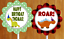 Set of 12 customized personalized dinosaur themed cupcake toppers