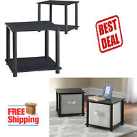 Night Stand Bedroom Bedside Furniture Set Of 2 Sofa End Side Table Storage Black