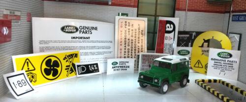 LAND Rover Defender 90 110 300 TDi Decalcomania Sticker Etichetta SOTTO COFANO MOTORE SET
