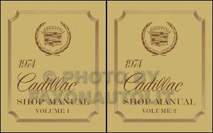 Service & Repair Manuals 1974 Cadillac Shop Manual Calais Deville ...