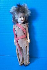 RARE Vintage Mid Century 50s GIRL SCOUT Brownie Doll Sleepy Eyes Frontier OOAK
