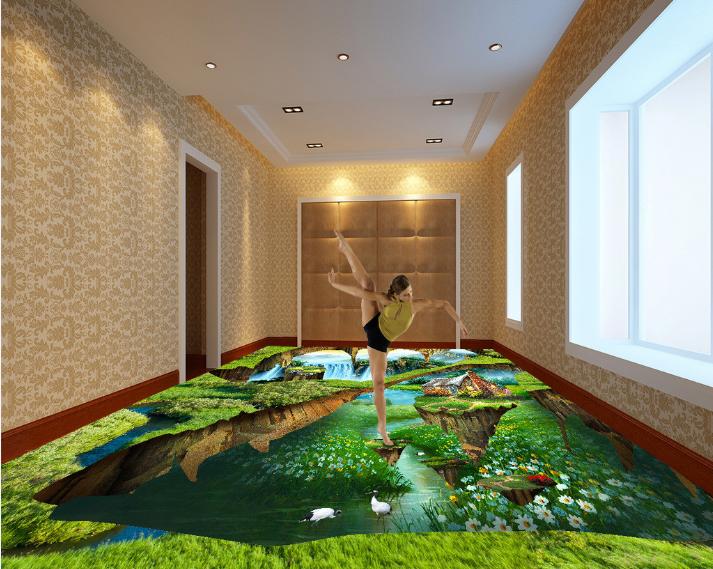 3D Forest Hut Scenery 70 Floor WallPaper Murals Wall Print Decal AJ WALLPAPER US