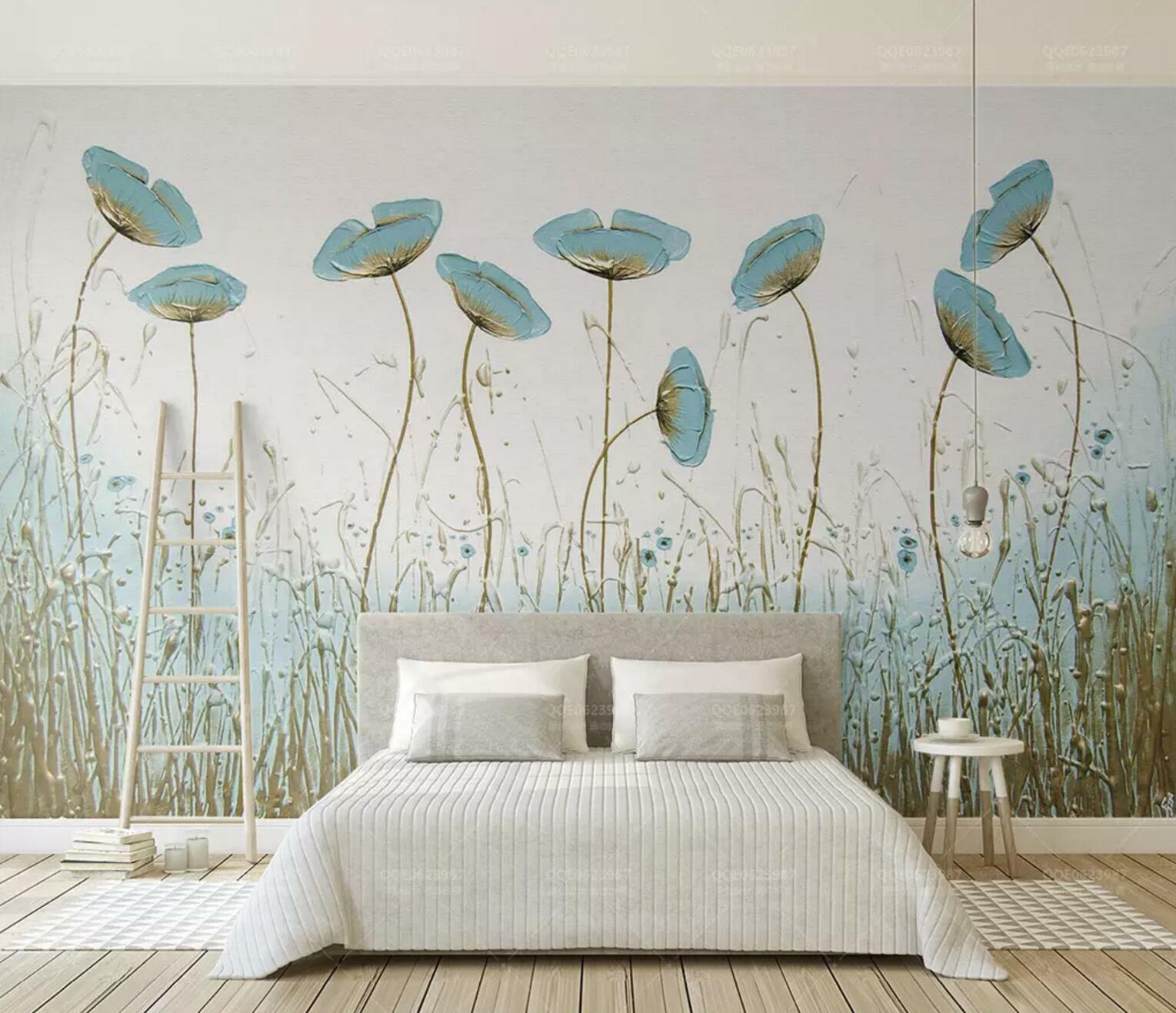 3D Blau Grass 8482 Wall Paper Exclusive MXY Wallpaper Mural Decal Indoor Wall AJ