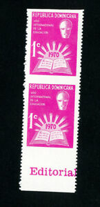 Dominican-Republic-Stamps-RA48-XF-OG-NH-Imperf-Pair-Error
