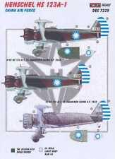 KORA Decals 1/72 CHINESE HENSCHEL Hs-123A-1 Dive Bomber