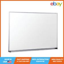 Universal Melamine Dry Erase White Board 48x36 Satin Finished Aluminum Frame