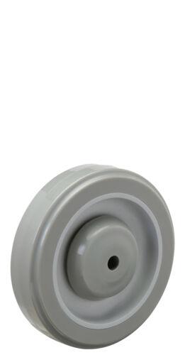 "Bearing 3//8/"" Bore. Gray on Gray Polyurethane on Polyolefin Wheel 3/"" x 1-1//4/"""