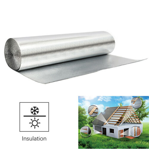 Double Foil Bubble Insulation for Floor Wall Caravan Shed Loft Roof