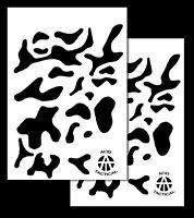 2pack Vinyl Airbrush Stencils 10 Mil - 14x9 Camouflage Duracoat (multicam X2)
