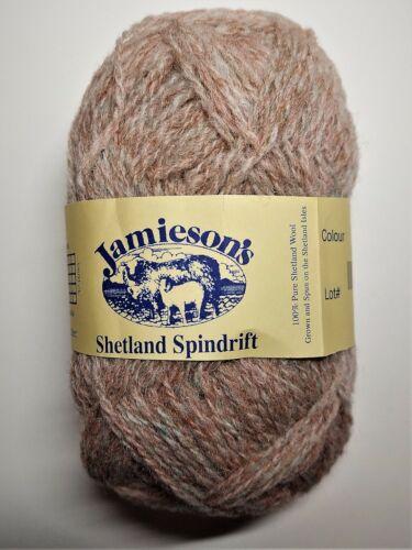 Shetland Spindrift Oyster 290 Details about  /JAMIESON/'S YARN 115 YARDS UTAH KILLER BUGS
