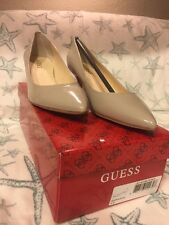 Ragene Guess Womens 6 M Light Nude Natural Kitten Heels Pumps Patent Shoes NIB